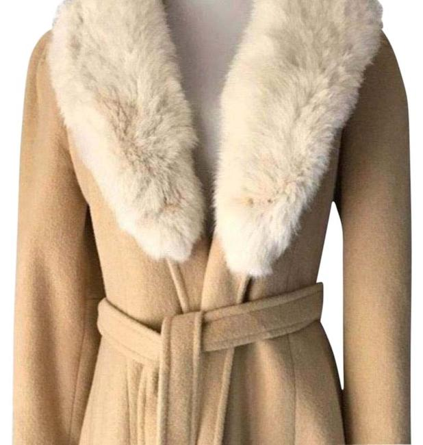Item - Beige Long Camel Coat Size 6 (S)