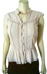 Old Navy Button Down Size Medium P1365 Summersale Top ivory