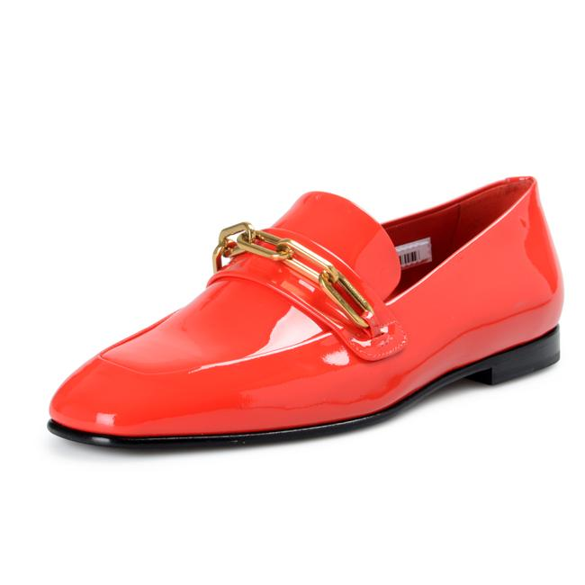 Item - Bright Red Shoes-4406 Flats Size US 7 Regular (M, B)
