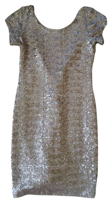 Item - Gold 22876221 Knee Length Night Out Dress Size 0 (XS)