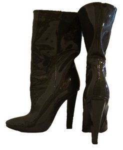 Jimmy Choo Almost New Patent Leather Grey Boots