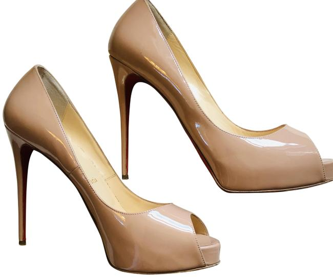 Christian Louboutin Nude Patent Leather Very Prive 120 Pumps Size EU 39.5 (Approx. US 9.5) Regular (M, B) Christian Louboutin Nude Patent Leather Very Prive 120 Pumps Size EU 39.5 (Approx. US 9.5) Regular (M, B) Image 1