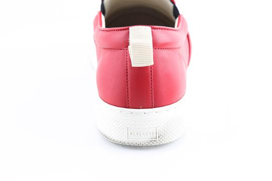 Gucci Red Canvas Dublin Striped Skate Slip On Sneakers Shoes Image 10