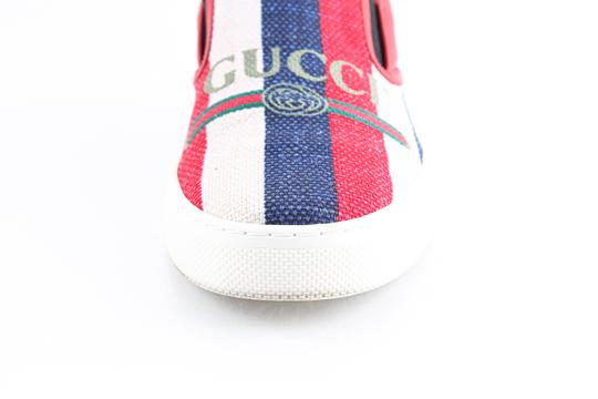 Gucci Red Canvas Dublin Striped Skate Slip On Sneakers Shoes Image 8