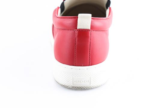Gucci Red Canvas Dublin Striped Skate Slip On Sneakers Shoes Image 9