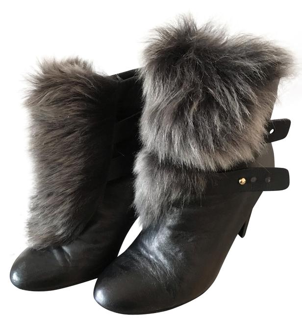 Item - Black and Gray Faux Boots/Booties Size US 8 Regular (M, B)