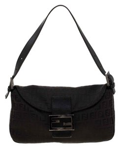 Fendi Canvas Leather Shoulder Bag