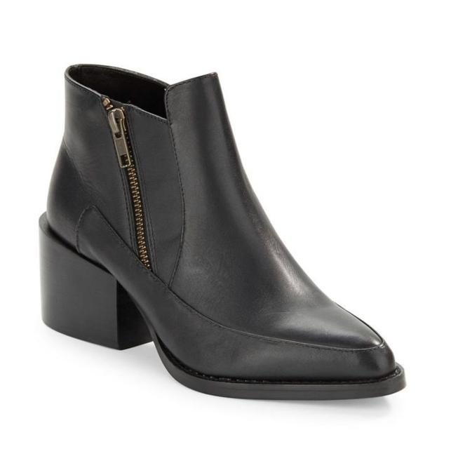 Item - Black Druria Leather Ankle Boots/Booties Size US 9 Regular (M, B)