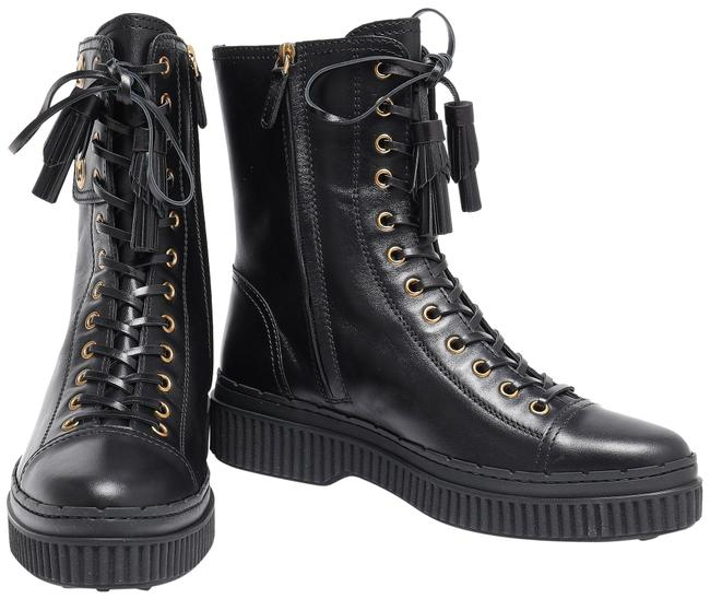 Tod's Black Lace-up Leather Ankle Boots