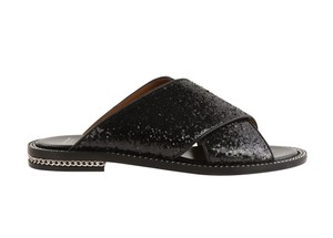 Givenchy Sequin Chain Leather Black Sandals