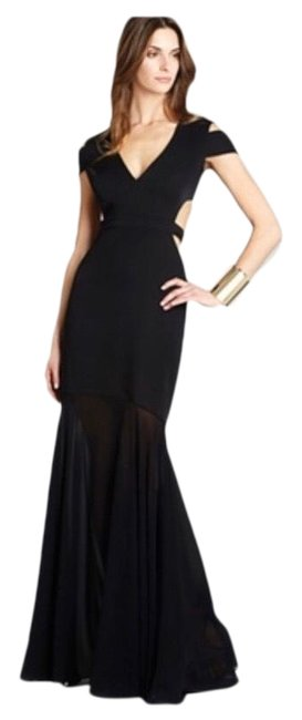 Item - Black Ava Cutout Gown Long Night Out Dress Size 6 (S)