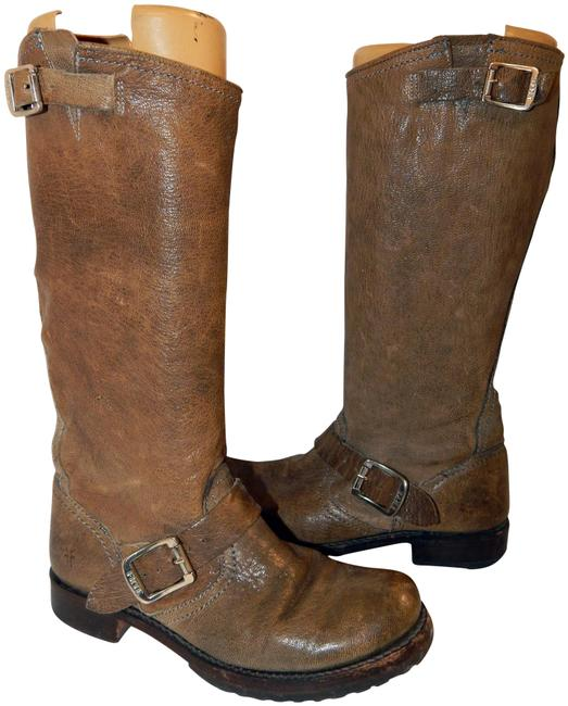 Frye Brown Veronica Leather Riding B Boots/Booties Size US 7 Regular (M, B) Frye Brown Veronica Leather Riding B Boots/Booties Size US 7 Regular (M, B) Image 1