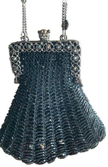 Preload https://img-static.tradesy.com/item/26224273/mary-frances-evening-small-black-exterior-fabric-covered-in-beading-with-lined-interior-wristlet-0-1-540-540.jpg