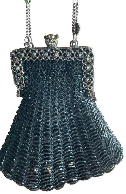 Mary Frances Evening Small Black Exterior Fabric Covered In Beading with Lined Interior Wristlet Mary Frances Evening Small Black Exterior Fabric Covered In Beading with Lined Interior Wristlet Image 1