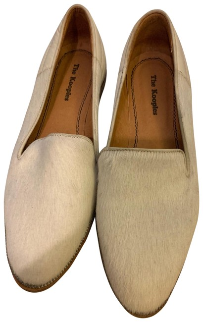 Item - White Half Calf Half Leather Oxford Loafer Flats Size EU 39 (Approx. US 9) Regular (M, B)