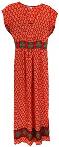 Orange/teal/multicolor Maxi Dress by Alya