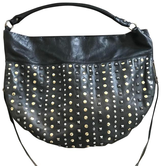Item - Studded Black Leather Hobo Bag