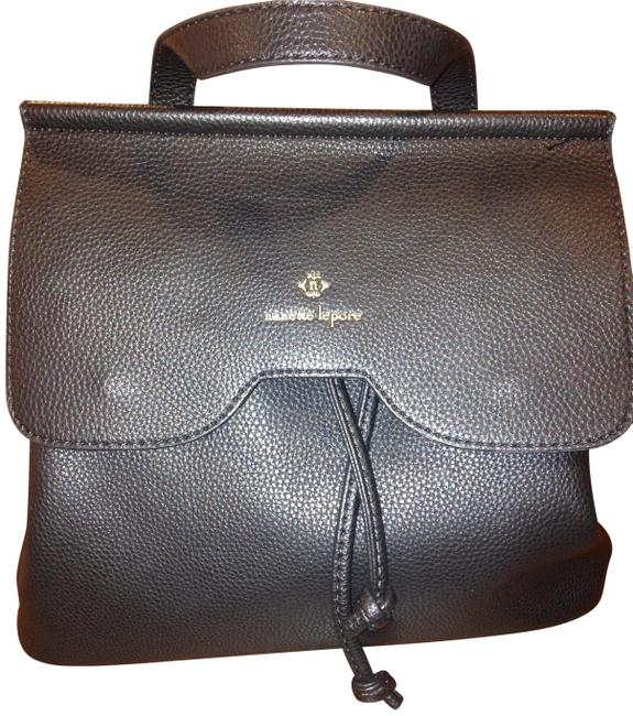 Item - Arabelle Convertible Black Faux Leather Backpack