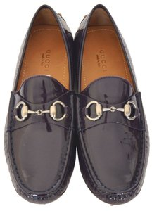 Gucci Womens Drivers Horsebit Purple Flats