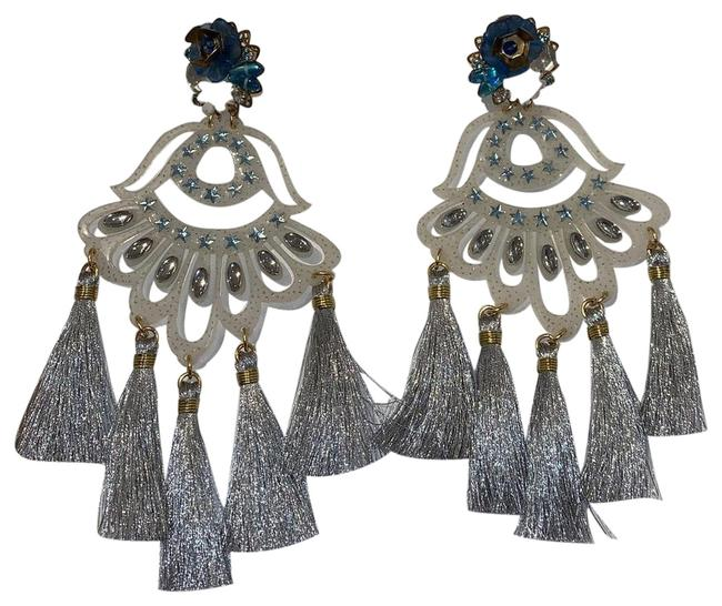 Item - Silver Aretes Fiesta Earrings
