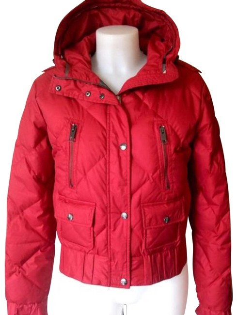 Burberry London Burgundy Goose Down Coat Size 6 (S) Burberry London Burgundy Goose Down Coat Size 6 (S) Image 1