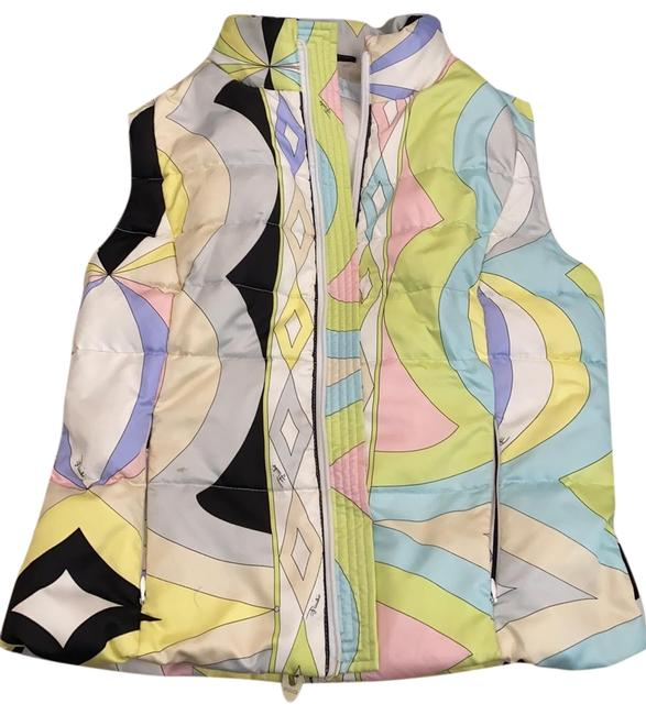 Item - Multicolor Chic Brightly Patterned Vest Size 10 (M)