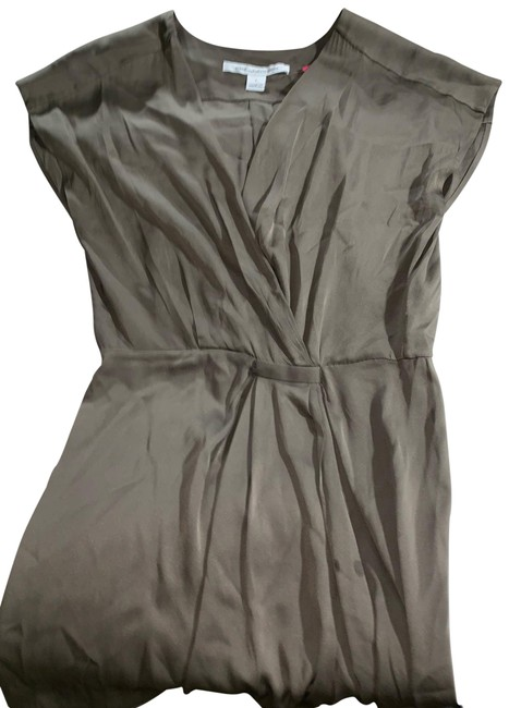Item - Brown Silk Sheath Mid-length Work/Office Dress Size 2 (XS)