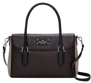 Kate Spade Tote Sale Discount Satchel in Brown Balck Taupe
