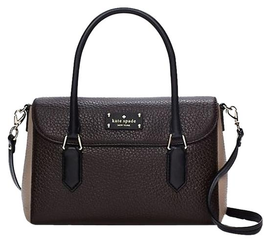 Preload https://item2.tradesy.com/images/kate-spade-grove-court-small-leslie-msrp-brown-balck-taupe-pebbled-leather-satchel-2622586-0-0.jpg?width=440&height=440