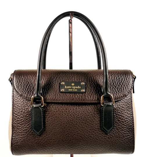 Kate Spade Purse Tote Sale Discount Satchel in Brown Balck Taupe