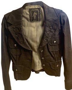 My Tribe brown Leather Jacket