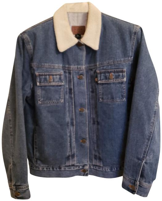 Item - Blue Vintage with Faux Shearling Collar Jacket Size 8 (M)