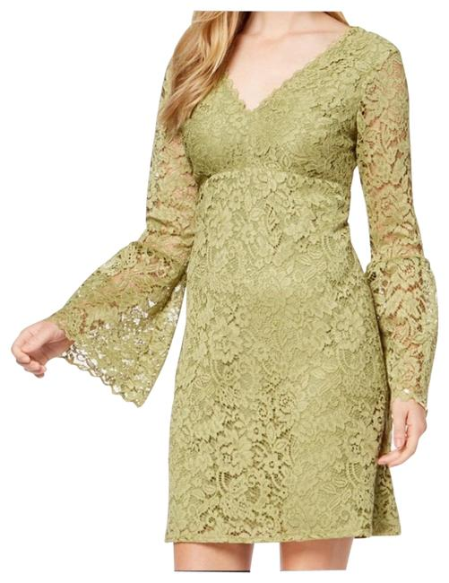 Betsey Johnson Green Lace Bell Sleeve Formal Dress Size 8 (M) Betsey Johnson Green Lace Bell Sleeve Formal Dress Size 8 (M) Image 1
