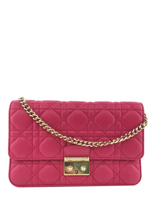 Dior Wallet on Chain Pink Leather Cross Body Bag Dior Wallet on Chain Pink Leather Cross Body Bag Image 1