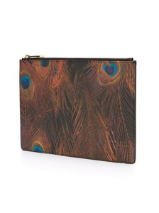Givenchy Peacock Colorful Orange Clutch