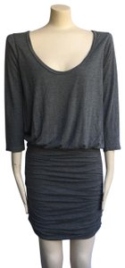 Soft Joie short dress gray Arusa Ruched Athleta James Perse on Tradesy