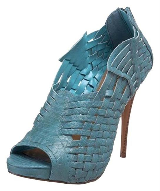 Michael Antonio Turquoise Matteo Woven Pumps Size US 6.5 Regular (M, B) Michael Antonio Turquoise Matteo Woven Pumps Size US 6.5 Regular (M, B) Image 1