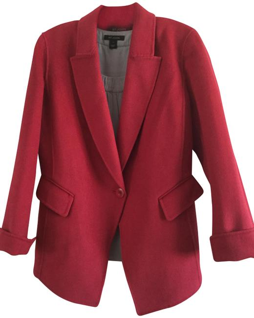 Item - Red Wool-blend Single-buttoned Jacket Blazer Size 6 (S)