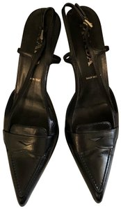 Prada Slingback Mule Pointed Fabulous Loafer black Pumps