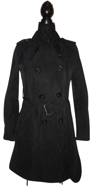 Item - Black Belted Coat Size 6 (S)