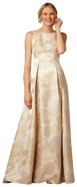 Adrianna Papell Yellow Audrey Long Formal Dress Size 4 (S) Adrianna Papell Yellow Audrey Long Formal Dress Size 4 (S) Image 1