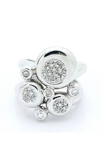 Chimento Chimento 18k White Gold 1 TCW Diamonds Openwork Cluster Split Shank Ring #CHME01