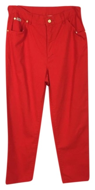 Item - Red Gold Vtg 80s Margaretha Ley Pants High Waisted Straight Leg Jeans Size 34 (12, L)