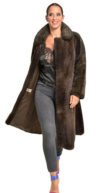 Unbranded Brown Beaver Jacket Whole Skins Large Coat Size 14 (L) Unbranded Brown Beaver Jacket Whole Skins Large Coat Size 14 (L) Image 1
