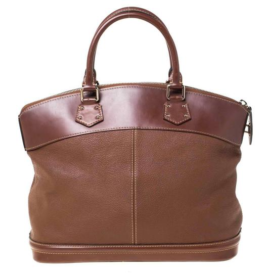 Louis Vuitton Leather Tote in Brown Image 1