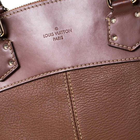 Louis Vuitton Leather Tote in Brown Image 7