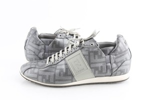 Fendi Silver Softy Zucca Sneakers Shoes