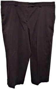 George Stretch Comfort Plus Size Cotton Capris Brown
