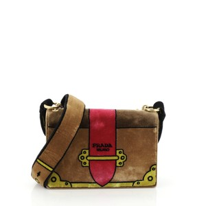 Prada Cahier Velvet Cross Body Bag