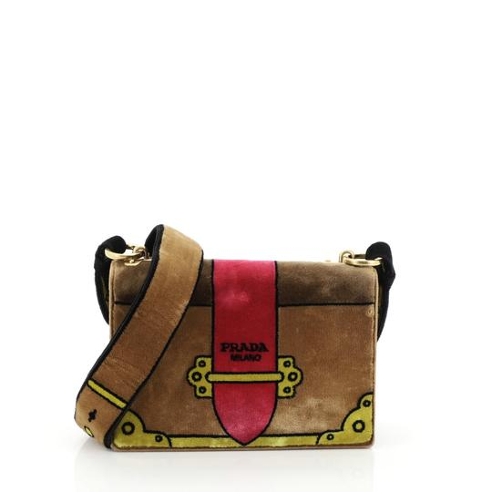 Preload https://img-static.tradesy.com/item/26229392/prada-cahier-printed-small-brown-velvet-cross-body-bag-0-0-540-540.jpg